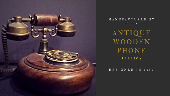 Antique Wooden Phone 1930