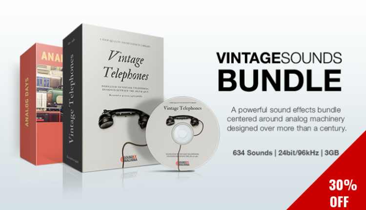 Vintage Sounds Bundle includes two (2) powerful sound libraries, at a 30% discount.