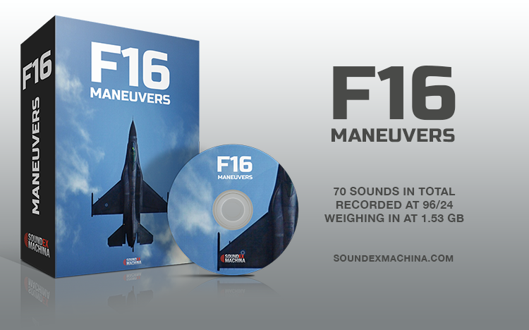 F16 Maneuvers - Royalty Free Sound Library